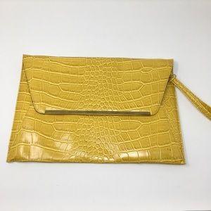 ASOS Snake Print Gold Envelope Clutch
